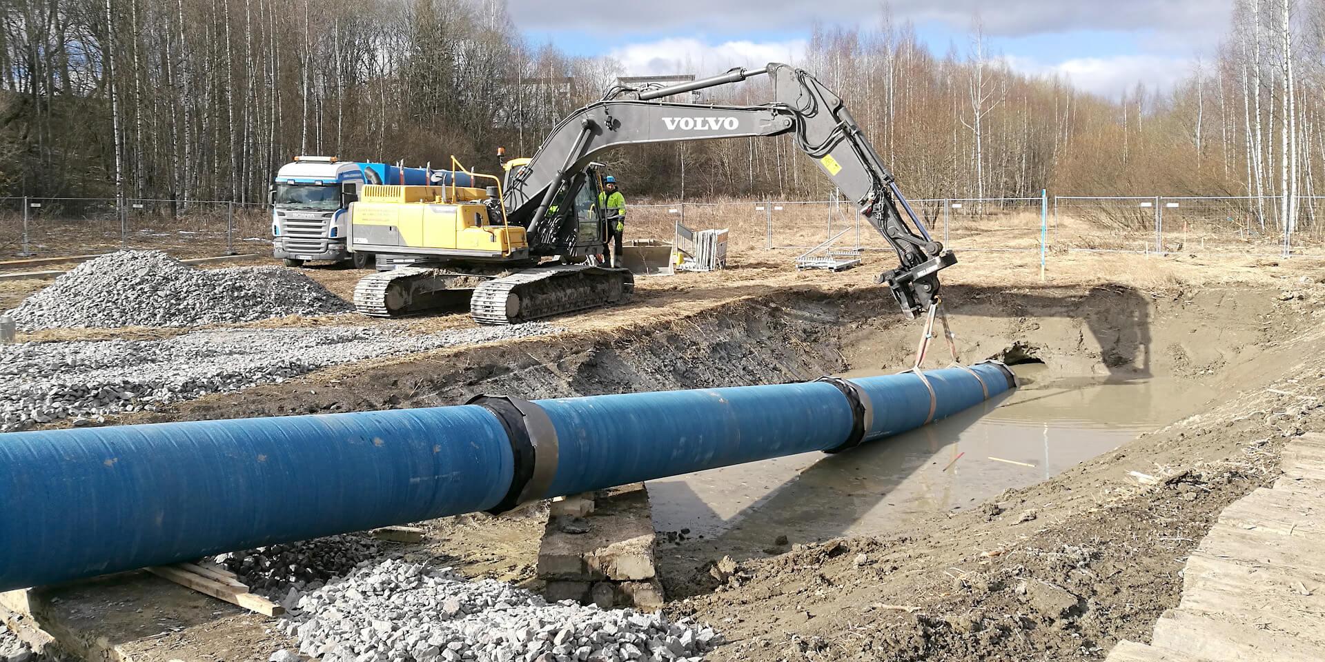 Закрытая прокладка водопровода методом ГНБ